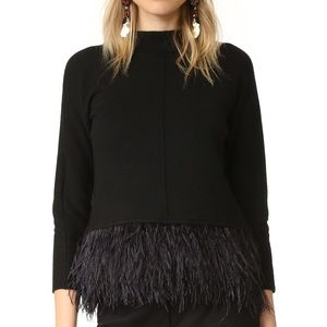 Saylor Marcy sweater feather fringe